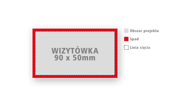 Rozmiar wizytówki 90 x 50 mm | Druk wizytówek Białystok
