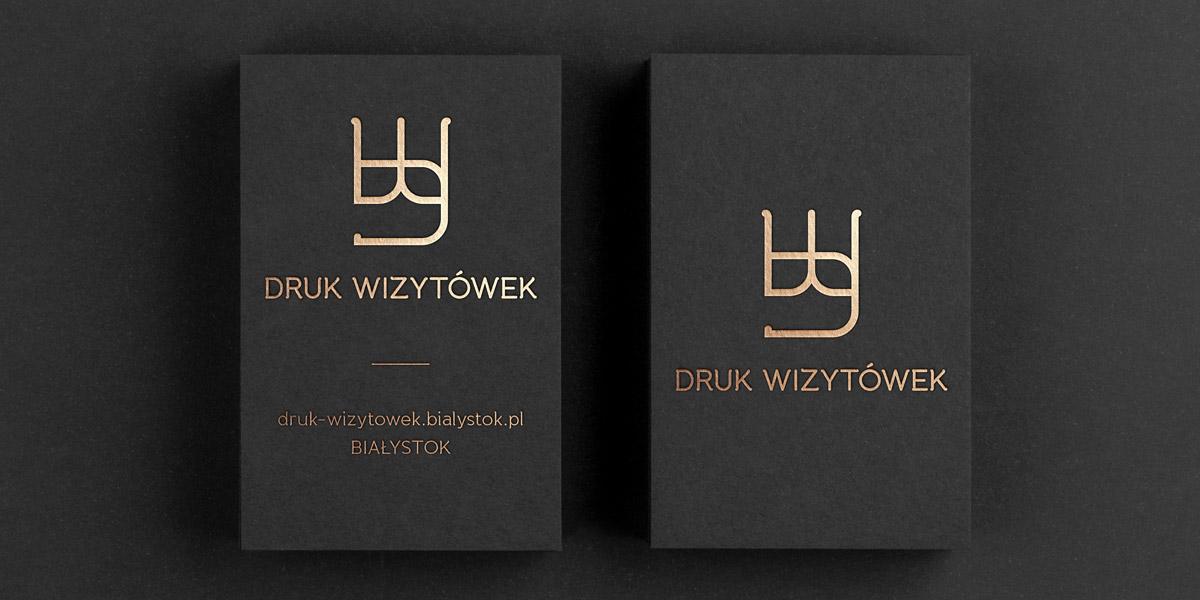 Wizytówki hotstamping Białystok